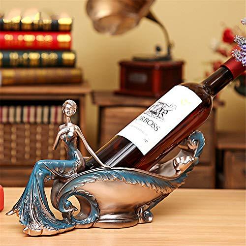 TZSHUQ Europese Luxe Schoonheid Wijnrek Handwerk Hars Wijnfles Houders Woonkamer TV-Kast Huis Meubelen Decoratie Ambacht 2