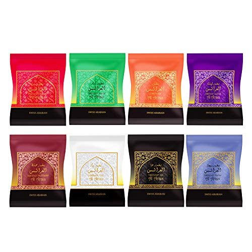 Bakhoor Pack Collection (8 x 40g Packs Bundle) | Home Use with Electric or Charcoal Burner (Mabkhara)| Traditional & Long Lasting Middle East Quality Resin Incense | by Swiss Arabian Oudh Perfume
