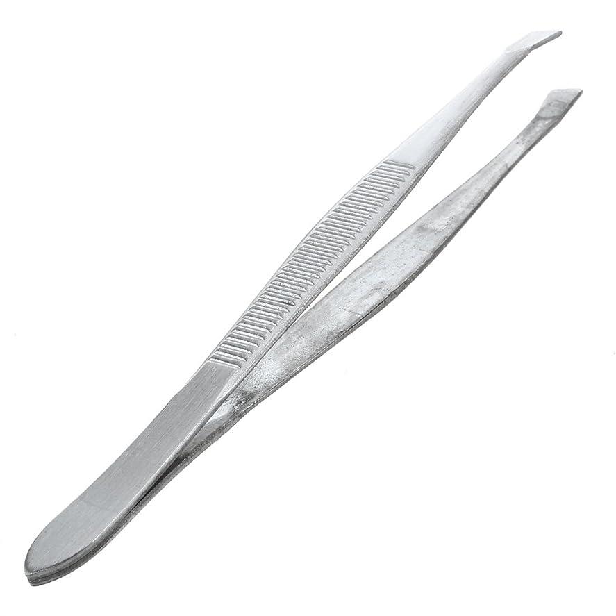 電報減るフレッシュSNOWINSPRING 眉毛ピンセット 脱毛チップ 炭素鋼 傾斜 9cm シルバーカラー