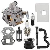 ATVATP MS170 Carburetor fit Stihl MS180 Carburetor 017 018 MS170C MS180C Chainsaw 1130 120 0603 & 1130 124 0800 Air Filter