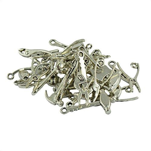 40x Werkzeug Motiv DIY Charm Anhänger Schmuck Herstellung Basteln für Halskette