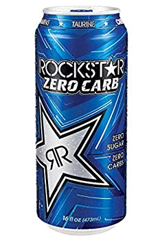 16 Pack - Rockstar Energy Drink Zero Carb - 16 Ounce
