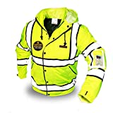 KwikSafety (Charlotte, NC) MARSHAL High Visibility Safety Jacket Yellow (Multi-Use Rugged) ANSI OSHA Class 3 Type R Reflective Water Resistant Thermal Coat Men Women Rain Gear Workwear X-Large