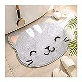 hongbanlemp Alfombrilla de baño, alfombras de baño Antiadherente de Microfibra, Alfombra de baño de Ultra Agua Absorbente, alfombras de Ducha Lavable (Color : B)
