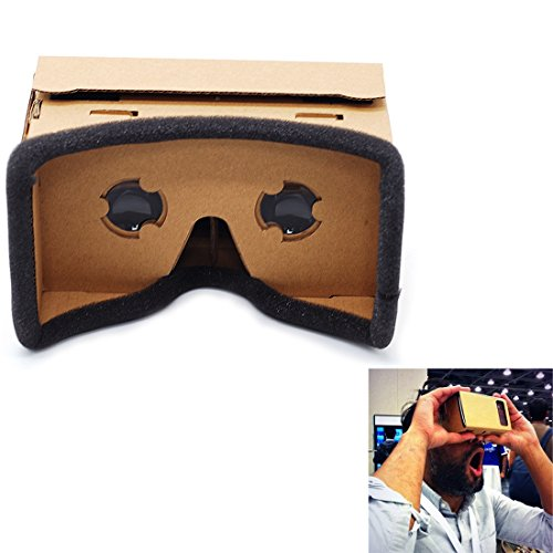 Kasstino Google Cardboard DIY Virtual Reality VR 3D Glasses for iPhone Samsung SmartPhone