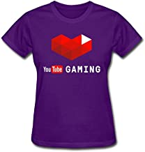 SLJD Women's You Tube Gmaing Youtuber Design O Neck Short Sleeve T Shirt