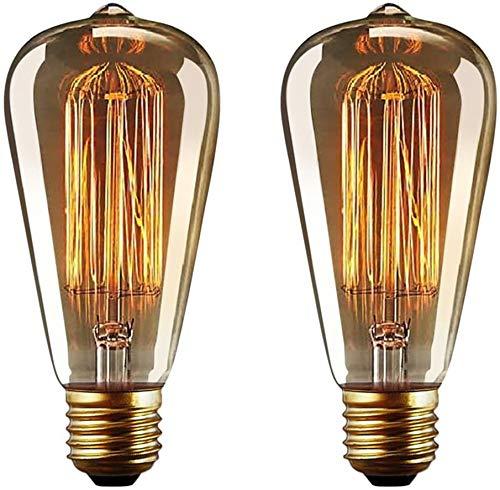 MIKLL Bombilla E27 Vintage Edison Lamparas Antigua Bombillas