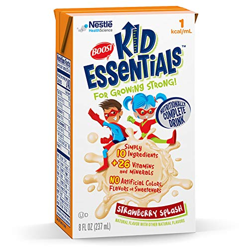 BOOST Kid Essentials 1.0 Nutritionally Complete Drink, Strawberry Splash, 8 Ounce Box (Case of 27)