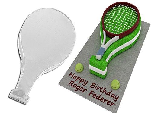 EUROTINS Neuheit Geformte professionelle Kuchenbackform/Zinn (Tennis Racket)