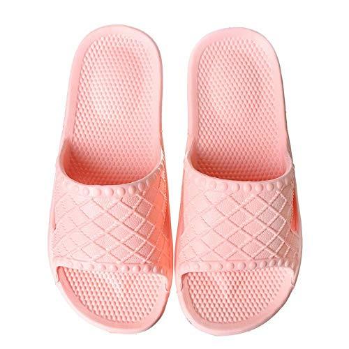 wenhua Sandalen Dusch-& Badeschuhe Hausschuhe,rutschfeste Massagepantoffeln für Herren und Damen, leichte Tauhohlsandalen, Nude pink_42-43Unisex-Erwachsene Badeschuhe