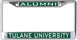Tulane University Alumni Premium License Plate Frame, Chrome with 2 Mount Holes