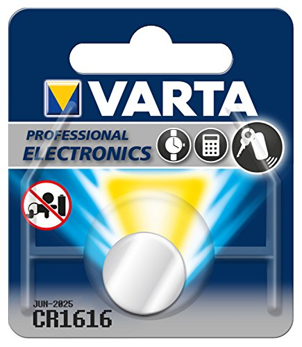 VARTA Batterien Electronics CR1616 Lithium Knopfzellen 1er Pack Knopfzellen in Original 1er Blisterverpackung