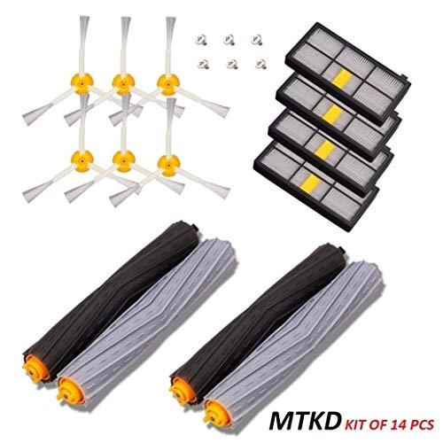 MTKD Kit di ricambi Compatibile con aspirapolvere Robot Serie 800 e Serie 900 - Kit di 14 pezzi accessori con spazzole laterale, filtri, Spazzola di spugna e etc..) per robot aspirapolvere.