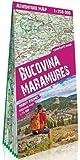 Bucovina, Maramure. Montañas de Rumanía. 1:250.000 mapa plastificado. Terraquest. (trekking map)