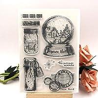 DIYスクラップブッキング/カード作成/キッズクリスマス楽しい装飾用品用の透明なクリアスタンプ
