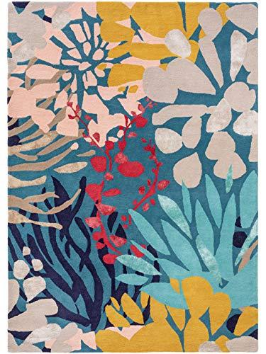 benuta PREMIUM Wollteppich Aurora Multicolor 140x200 cm - Naturfaserteppich aus Wolle