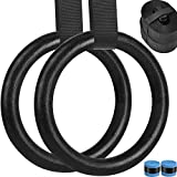 Aimosen Gymnastics Rings with Solid Straps and Lock Buckles, Versatile Workout Set