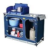 Camp 4 92243 Cuccina - Mueble de Cocina con Fregadero para Camping, Color Azul
