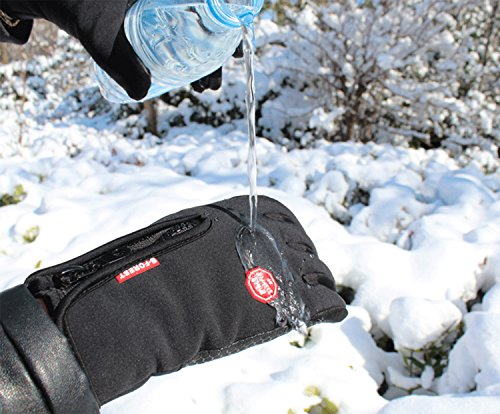 UPhitnis Herbst Winter Fahrradhandschuhe für Herren Damen - Outdoor Winddicht Touchscreen Handschuhe - Winterhandschuhe für Lauf Radfahren Jagd Sports - 4