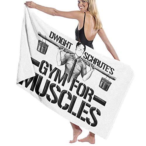 Toalla de baño, 80 x 130 cm, Dwight Schrute Gym para músculos, toallas de baño, súper absorbentes para playa, gimnasio, playa, Swm Spa