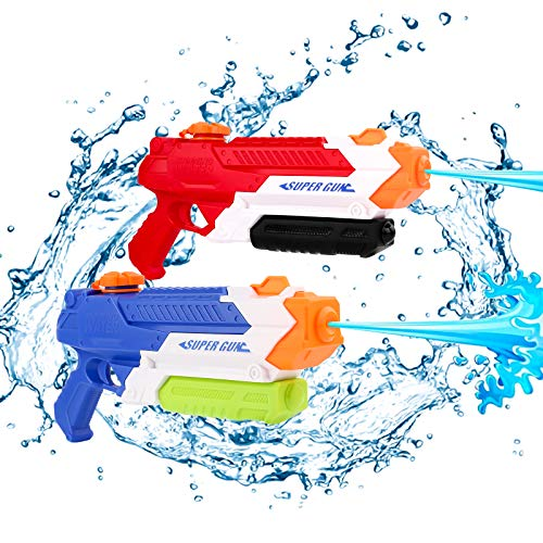 Growom Water Guns for Kids, Super Water Gun Water Blaster 900CC Swimming Pool Beach Sand Super Soaker Water Guns(2 Pack)