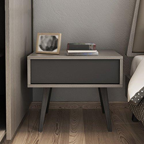 LI Jing Shop - Tables de Chevet de Style américain en Bois Massif Tables de Chevet Moderne de simplicité en métal Armoire de Rangement