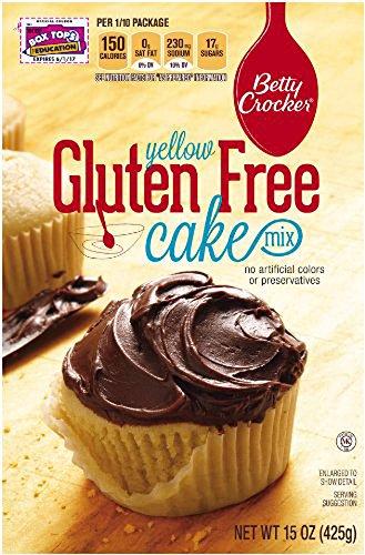 Betty Crocker Gluten Free Cake Mix Yellow 15 oz. box (2 Pack)