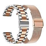 TRUMiRR Kompatibel mit Honor MagicWatch 2 42 mm/Huawei Watch GT 2 42mm Armband, Mesh Gewebte Edelstahl Armband Uhrenarmband Ersatzband für Huawei Watch GT2 42mm/Honor MagicWatch 2 42 mm
