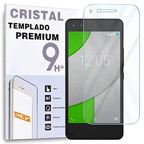 REY Protector de Pantalla para BQ AQUARIS A4.5 y M4.5 Cristal Vidrio Templado Premium