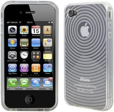 Logotrans Orbit Series - Carcasa de silicona para iPhone 4, color blanco