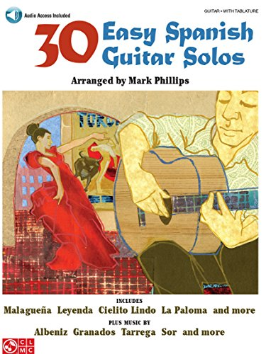 30 Easy Spanish Guitar Solos - Gitarrenoten [Musiknoten]