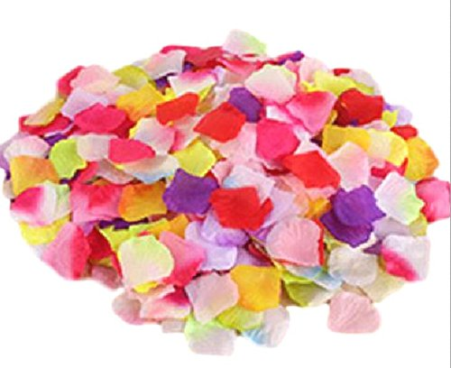 Oak fw 2,000 枚 セット フラワー シャワー 花びら 造花 ウェディング 二次会 誕生日 パーティー サプライズ 4色 マルチカラー