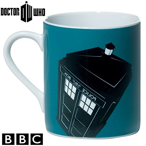 BBC DOCTOR WHO DW Dr Who Official Ceramic Coffee Tea Cup Mugs Boxed Gift Set (Pack of 4) – Including Tardis, Dalek and Cyberman Design