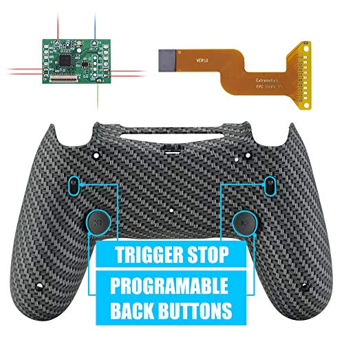 eXtremeRate Dawn 2.0 FlashShot Trigger Stop Remap Kit for PS4 CUH-ZCT2 Controller, Mod Chip & Redesigned Back Shell & Back Buttons & Trigger Lock for PS4 Controller JDM 040/050/055