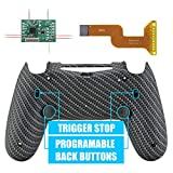eXtremeRate Carbon Fiber Dawn 2.0 FlashShot Trigger Stop Remap Kit for PS4 CUH-ZCT2 Controller, Upgrade Board & Redesigned Back Shell & Back Buttons & Trigger Lock for PS4 Controller JDM 040/050/055