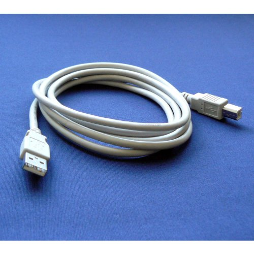 Brother MFC-J425W Color Printer Compatible USB 2.0 Cable Cord for PC, Notebook, Macbook - 6 feet White - Bargains Depot