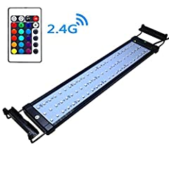 Multiple colors and multiple lighting modes.This light is also beneficial to grow plants. With extendable bracket to adjust the length to fit your fish tank,fits tank 19 inch--28inch in length Dedicated and professional power supply design, more ener...