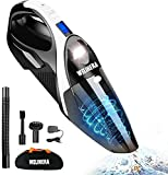 Handheld Vacuum Cleaner, WELIKERA Vacuum Cleaner Cordless 7000PA Powerful Suction Lightweight Wet/Dry Vacuum Cleaner Portable Household Vacuum Cleaner with Stainless Steel HEPA Suit for Home&Car,Gift