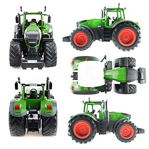 RC Traktor kaufen Traktor Bild 1: efaso E351-003 1:16 2,4 GHz Ferngesteuerter RC Traktor Trecker mit Heuwender und Licht- und Soundeffekten - Komplett RTR*
