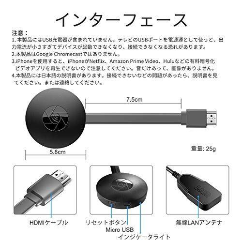 Chromecast リセット