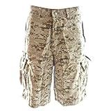 Molecule Men's Regular Fit Beach Bumpers Camo Cargo Shorts with Tactical Pockets | USA 31'/S (Tag S) Digital Desert Camo