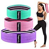 Exercise Resistance Workout Booty Band - Fabric Fitness Booty Loop Bands Set for Arms Hip Thigh Legs Butt Bands for Working Out Body Pilates Yoga Hip Circle Band Squat Bands