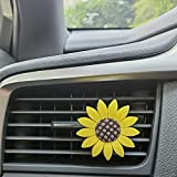 LivTee Bling Car Accessories for Women, Car Air Vent Clip Charms, Rhinestone Crystal Diamond Car Decor Accessories for Lovely Lady(Flower)