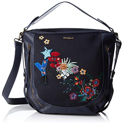 Desigual - Bols_surprise Marteta, Shoppers y bolsos de hombro Mujer, Azul (Navy),...