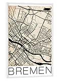 artboxONE Poster mit weißem Rahmen 30x20 cm Städte Bremen
