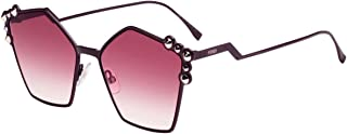 نظارة شمسية من فيندي FF0261/S مع عدسة بلون أرجواني متدرج، 57 ملم 0T73X FF0261S FF 0261S FF 0261/S