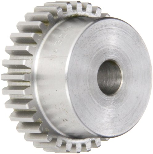 "Boston Gear NA13B Spur Gear, 14.5 Pressure Angle, Steel, Inch, 20 Pitch, 0.313"" Bore, 0.750"" OD, 0..375"" Face Width, 13 Teeth"