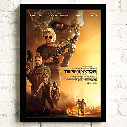 Lienzo de fotos 40x60cm Sin marco Carteles de película The Terminator impresiones artísticas de pared Cafe Bar decoración artística para el hogar imágenes