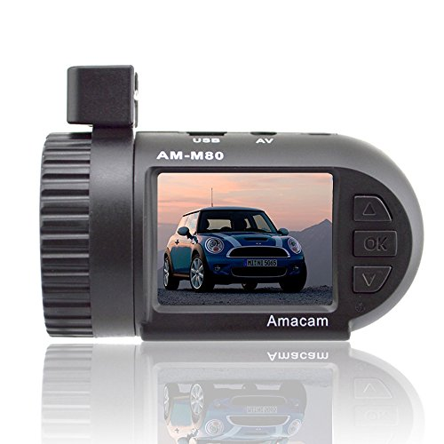Dash Cam Car Video Recorder - Miniature HD Camera. Clear 1.5 Inch LCD Screen. Compact and Very Easy to Install. Supports up to 32GB Memory Cards. Dashboard Digital Driving Black Box for Your Vehicle.