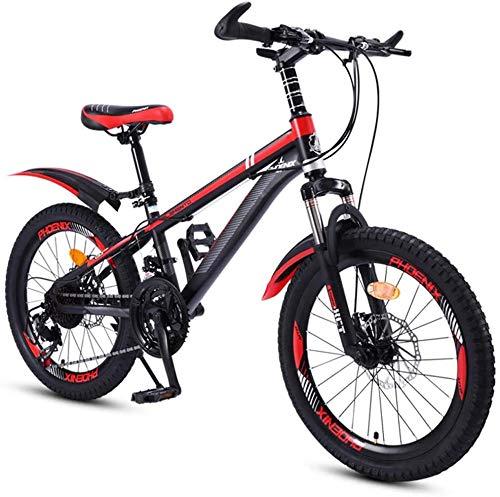 Aoyo Kinderfahrrad 20 Zoll mit Variabler Geschwindigkeit Red Mountain Bike, bequemer Sattel, rutschfestes Pedal Rennrad, Federgabel, sicher und einfühlsam Brake, (Color : Red)